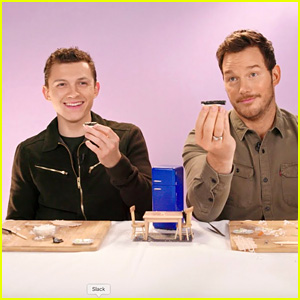 Chris Pratt & Tom Holland Make Tiny Sushi While Answering Fan Questions - Watch!