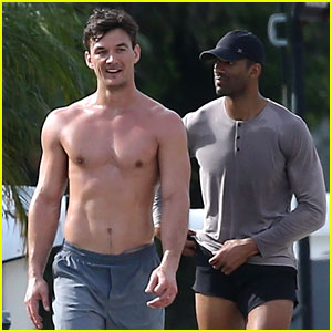Tyler Cameron Goes for a Shirtless Jog With a Future 'Bachelorette' Contestant - His BFF Matt James!