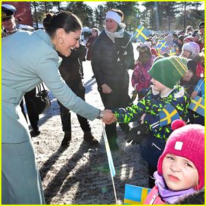 Crown Princess Victoria Of Sweden Visits Overkalix With Husband Prince Daniel