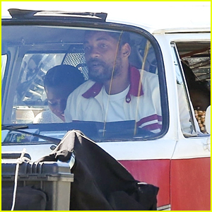Will Smith Drives Van While Filming For 'King Richard'