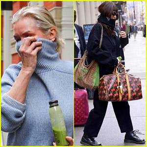 Yolanda Hadid & Daughter Bella Hadid Bundle Up Amid Coronavirus Concerns in NYC
