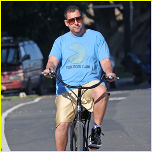 Adam Sandler Goes for a Bike Ride With His Daughter Sunny in Malibu Amid Quarantine