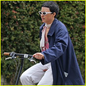 Alia Shawkat Spotted Biking Away from Brad Pitt's Gated Community