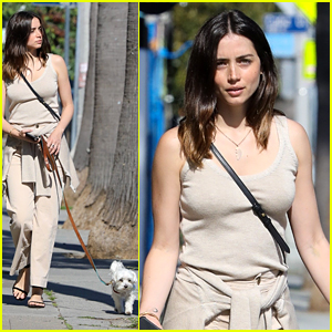 Ana de Armas Goes for a Solo Walk with Her Cute Pup Elvis
