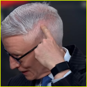 Anderson Cooper Shows Off 'Giant' Bald Spot On-Air After Giving Himself a Haircut - Watch!