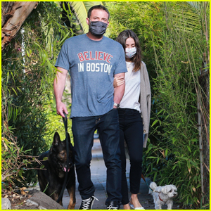 Ben Affleck & Girlfriend Ana de Armas Link Arms While Walking Their Dogs Amid Quarantine