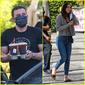 Ben Affleck & Girlfriend Ana de Armas Grab Coffee After a CVS Run Together