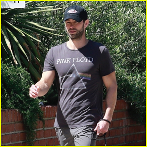 Chace Crawford Heads Out for a Walk With His Dog Shiner Amid Quarantine