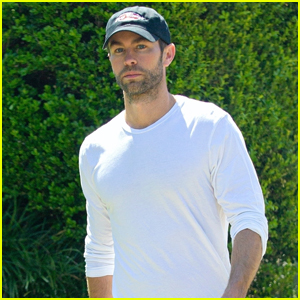 Chace Crawford Soaks Up Sunny Weather on Walk with Dog Shiner