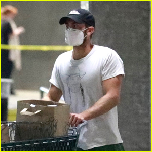 Chace Crawford Stocks Up on Essentials in a Mask Amid Quarantine