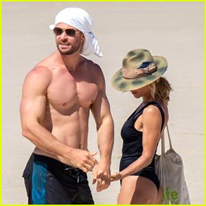 Chris Hemsworth Went Shirtless at the Beach in Australia & He Looks So Good