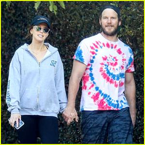 Chris Pratt Holds Hands with Katherine Schwarzenegger On a Sunset Stroll