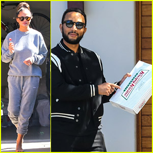 Chrissy Teigen & John Legend Gifted Donuts to the Paparazzi, Who Didn't Take Them!