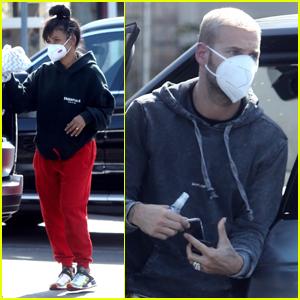 Christina Milian & Boyfriend Matt Pokora Run a Few Errands in L.A.