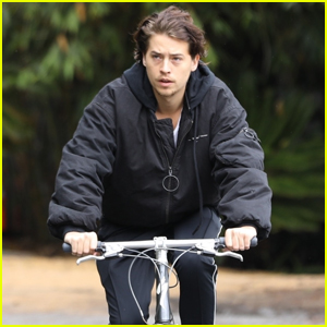 Cole Sprouse Goes for Bike Ride in Hollywood Hills