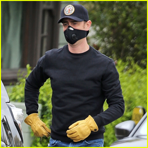 Colin Hanks Wears Face Mask & Construction Gloves While Out in L.A.