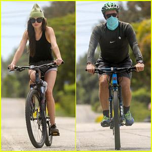 Dakota Johnson Goes Biking with Boyfriend Chris Martin & His Kids