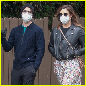 Darren Criss & Wife Mia Cover Up for Afternoon Walk in Los Feliz