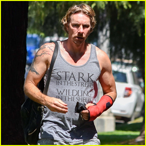 Dax Shepard Steps Out in a Cast After Performing Surgery on Himself