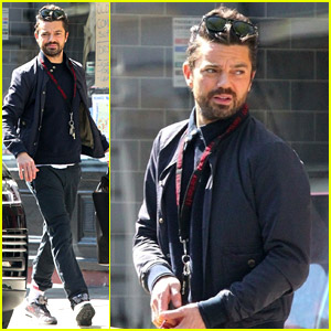 Dominic Cooper Grabs Some Essentials on a Trip to Town