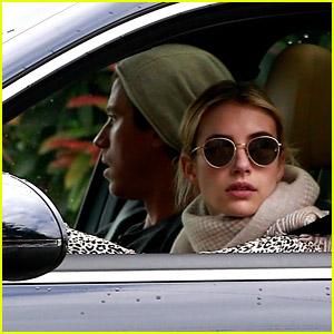 Emma Roberts & Garrett Hedlund Grab Starbucks from the Drive-Thru