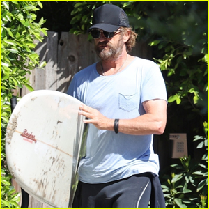 Gerard Butler Goes for Solo Surf Session in Malibu