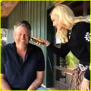 Watch Gwen Stefani Give Blake Shelton a Quarantine Haircut!