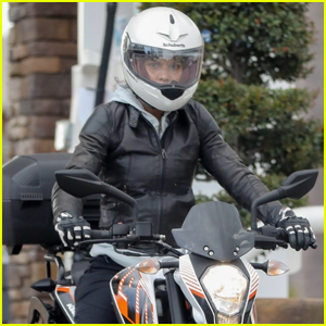 Halle Berry Goes for Motorcycle Ride in Malibu
