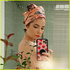 Halsey Looks Pretty in Shirtless Selfies While Self-Isolating at Home