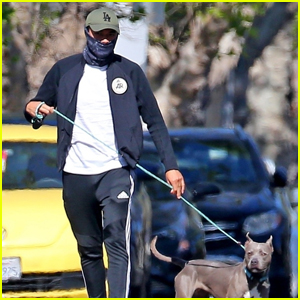 Henry Golding Goes for a Walk With His Dog Stella Amid Quarantine