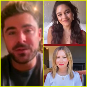 Zac Efron Didn't Sing with the 'High School Musical' Cast, But He Joined Them for a TV Reunion!