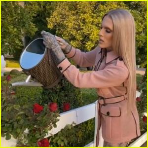 Jeffree Star Uses $4,800 Fendi Watering Can in First TikTok Video - Watch!