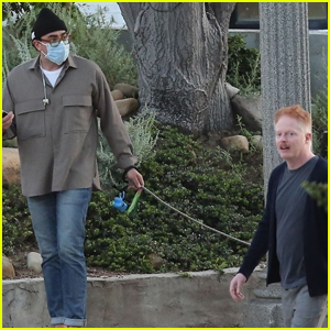 Jesse Tyler Ferguson Bumps Into Dan Levy While Out for a Walk
