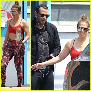 Jennifer Lopez & Alex Rodriguez Seen at Their Gym During Break from Quarantine
