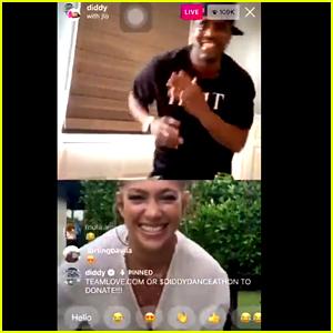 Jennifer Lopez Reunites & Dances With Diddy During Dance-a-Thon Instagram Live
