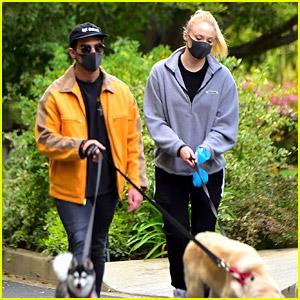 Joe Jonas & Sophie Turner Go For a Monday Afternoon Dog Walk