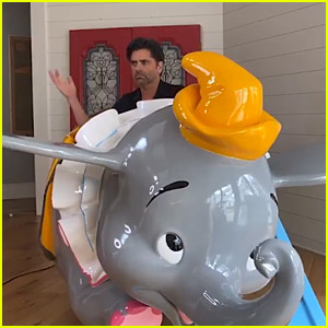 John Stamos Has a Giant Dumbo from Disneyland at His House!