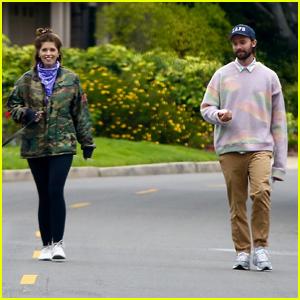 Katherine Schwarzenegger & Family Practice Social-Distancing on Easter Walk