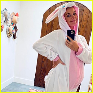 Katy Perry Shows Off Baby Bump in Easter Bunny Costume