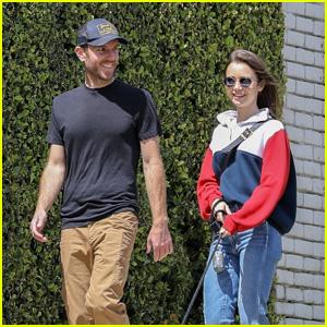 Lily Collins & Boyfriend Charlie McDowell Take Their Pup for a Walk Amid Quarantine