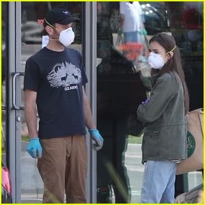 Lily Collins & Boyfriend Charlie McDowell Stay Safe While Shopping for Groceries During Health Crisis