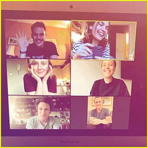 Lily James Reunites With 'Mamma Mia 2' Cast During Quarantine