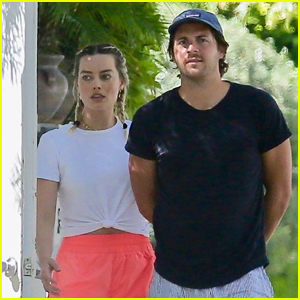 Margot Robbie & Husband Tom Ackerley Step Out for a Walk Amid Quarantine