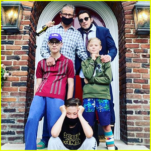 Matt Bomer Shares Easter Family Photo with Husband Simon Halls & Their Sons