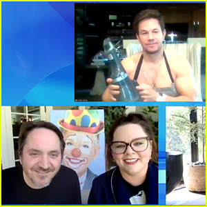 Mark Wahlberg Goes Shirtless To Surprise Melissa McCarthy on 'Ellen at Home'