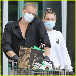 Miley Cyrus & Cody Simpson Stay Safe in Masks & Gloves While Stocking Up on Groceries