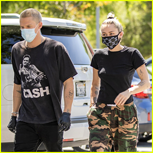 Miley Cyrus & Cody Simpson Wear Their Masks on a Morning Coffee Date