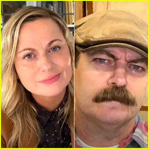 Amy Poehler & Nick Offerman Reunite in First 'Parks & Recreation Special' Clip - Watch!
