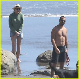 Robin Wright's Husband Clement Giraudet Goes Shirtless for Day at the Beach!