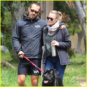 Robin Wright Joins Husband Clement Giraudet For A Walk With Their Dog